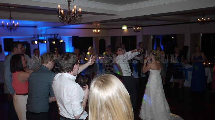 Weddign couple dancing in Cheshire
