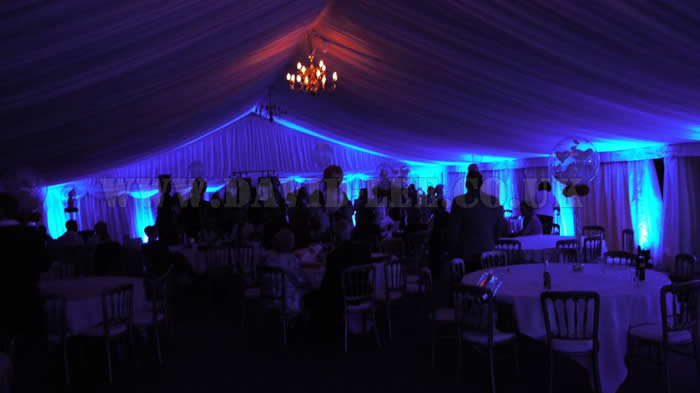 Scarisbrick Hall Marquee up-lighting