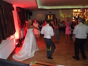 Bride and groom dancing at Blackley Golf Club