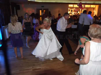 The bride dancing the night away at Blackley Golf Club
