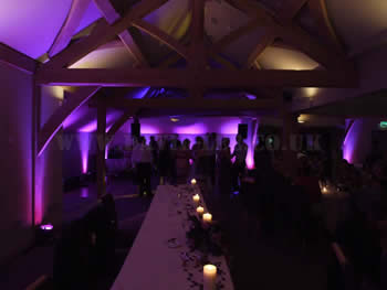 White hart, lydgate with full venue lighting in purple...