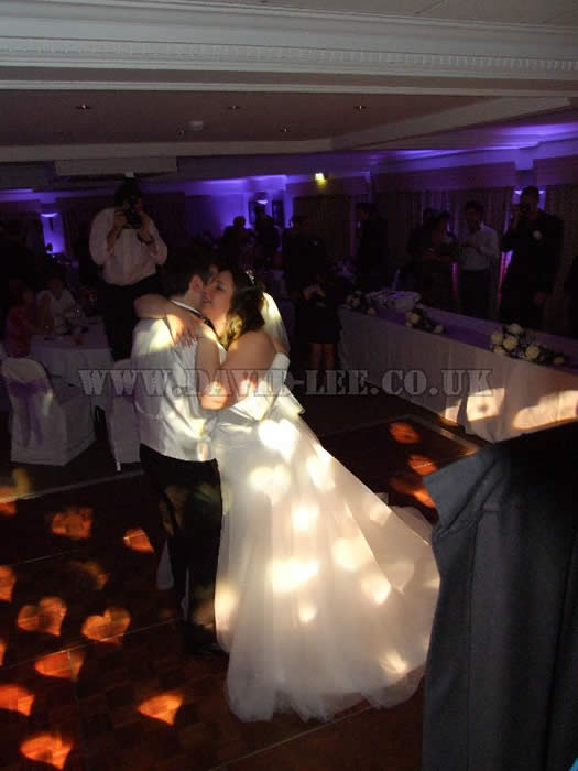 bride and groom first dance at the village hotel cheadle cheshire