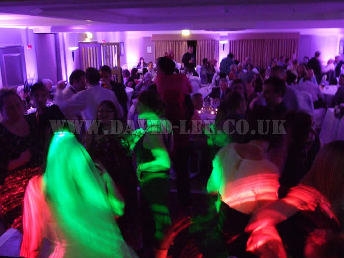 Wedding guests dancing at the village hotel cheadle cheshire
