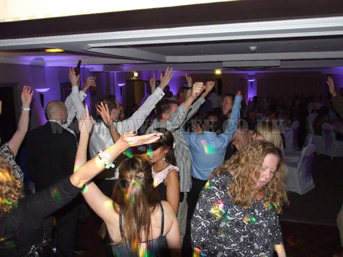 One of the many hands in the air moments at the cheadle village hotel chehsire