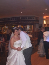 Denton Golf Club, Party Times for the wedding guests, the groom just telling the bride what a great dancer she is!