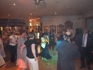 Denton Golf Club, Party Times for the wedding guests, it's time to swing people around by the arms