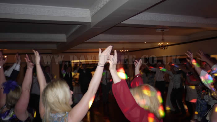 Hands in the air at The Deanwater Hotel cheshire