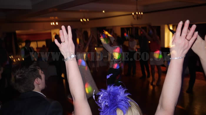 hands in the air with THE cheshire WEDDING DJ