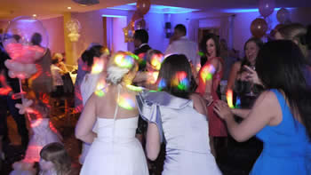 Bride and her hens dancing the night away at the white hart
