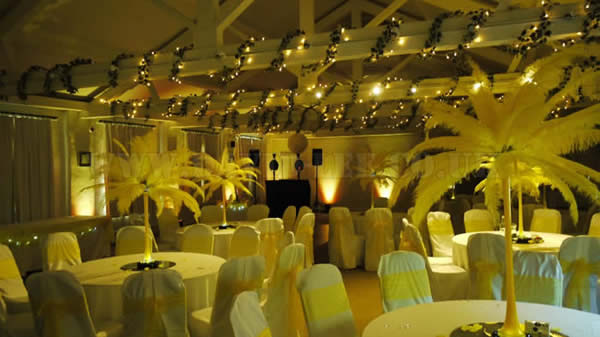 Quarry bank mill venue lighting in yellow