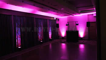 Marriott Victoria and Albert Hotel with Pink venue uplighting