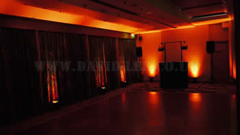 orange venue uplighting at Marriott Victoria and Albert Hotel