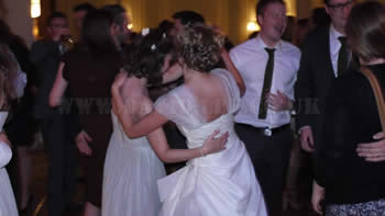 Bride and bridesmaid dancing the night away at The Midland Hotel