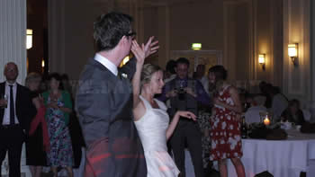 Bride and groom stilll dancing at The Midland Hotel