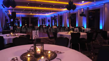 venue up-lighting at the Radisson Edwardian Manchester