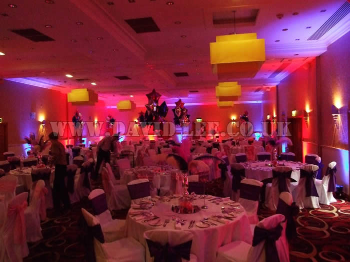 red and blue venue lighting at park royal hotel