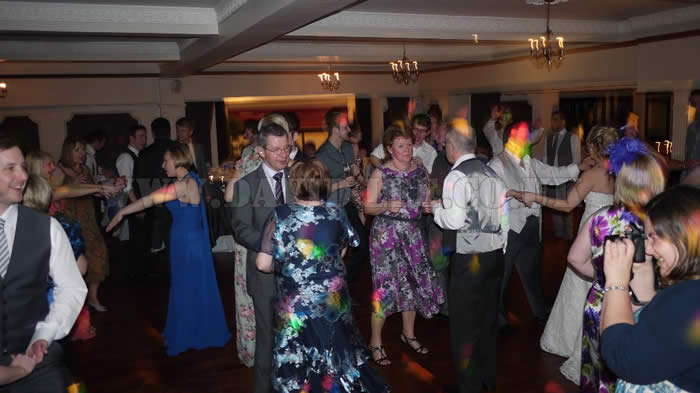 wedding disco at deanwater hotel