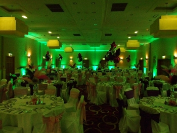 green venue lighting at The Park Royal hotel, Cheshire