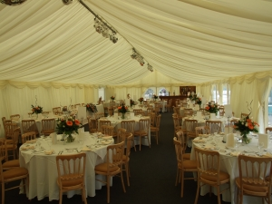 moorfield Arms , marquee set-up before guests arrive, 1