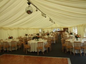 moorfield Arms , marquee set-up before guests arrive, 2