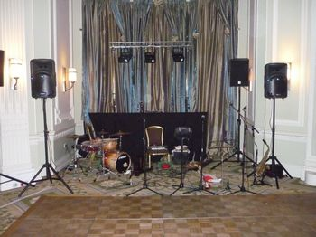 Midland Hotel - The Band set-up in front of the my deck stand due to space restrictions at the midland manchester
