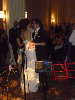 Wedding party at the Midland hotel Manchester, with the Bride and grooms first dance