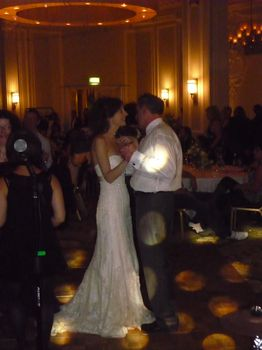 The Bride enjoying a dance with her father at midland hotel manchester