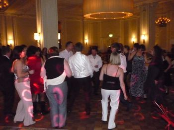 Weding party filling the floor at the midland hotel manchester