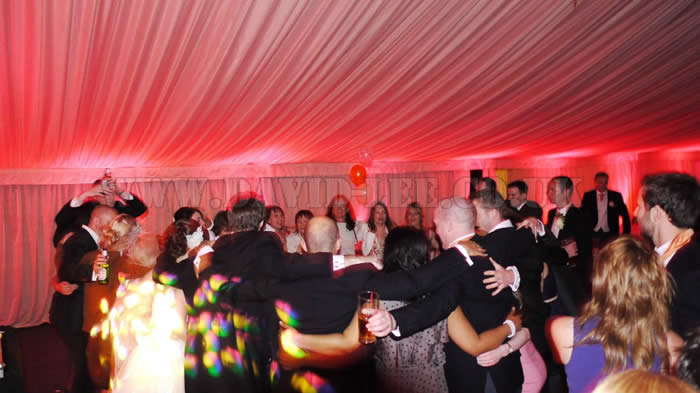 uplighting at Scarisbrick Hall Marquee