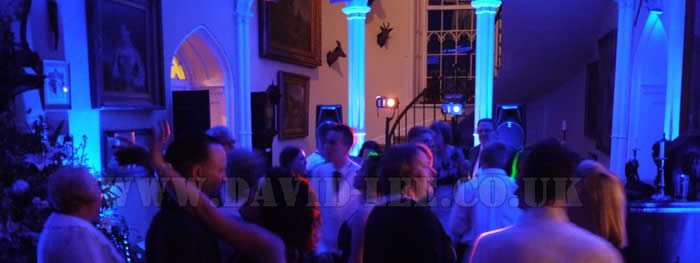 Venue uplighting at Leighton Hall Lancaster